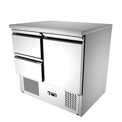 """2 DRAWERS COMMERCIAL KITCHEN WORKING BENCH """""""" QUIPWELL  AUSTRALIANA"""""""" FRIDGE: S921 """" FIVE YEARS WARRANTY"""""""