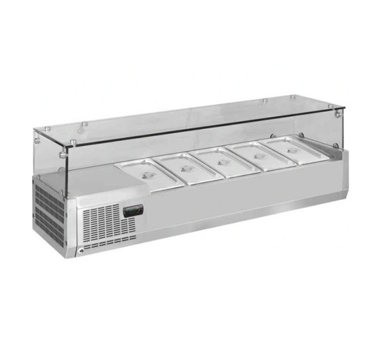 Commercial Salad Bar Top Bench – TZL1200 – Quipwell Australiana – 5 Years Warranty